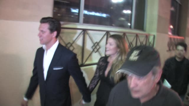 ali larter hayes macarthur arrive at the secretariat after party at roosevelt hotel in hollywood at the celebrity sightings in los angeles at los... - ali larter stock videos and b-roll footage