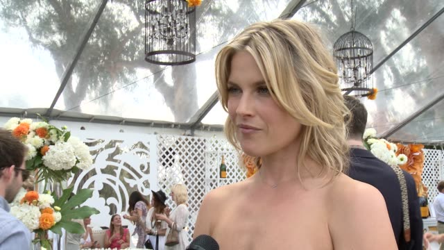 ali larter on attending the event for the second time if she's enjoyed a flute of veuve clicquot yet all about her polo style the fact that her son... - ali larter stock videos and b-roll footage