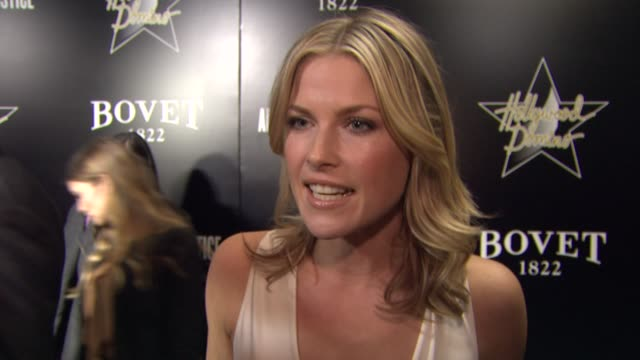 interview ali larter on being at the event at the hollywood domino bovet 1822 gala benefiting artists for peace and justice on 2/21/13 in west... - ali larter stock videos and b-roll footage