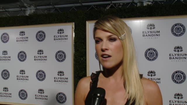 interview ali larter on the art of elysium on why the organization is so important on tonight's heaven gala on her idea of heaven at the art of... - ali larter stock videos and b-roll footage