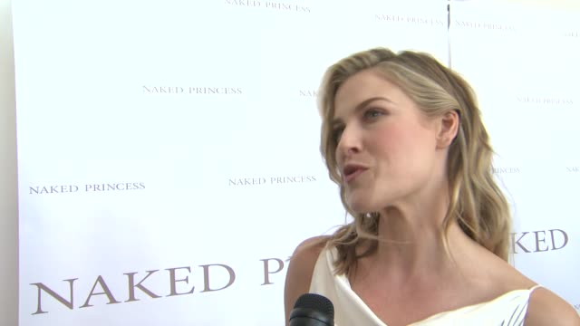 interview ali larter on the flagship store what naked princess products she likes and how she's celebrating mother's day grand opening of flagship... - ali larter stock videos and b-roll footage
