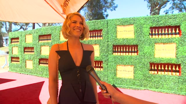 ali larter on what brings her out to the veuve clicquot polo classic how it feels being a new mom what inspired her recent new 'do if she has been to... - mother in law stock videos & royalty-free footage