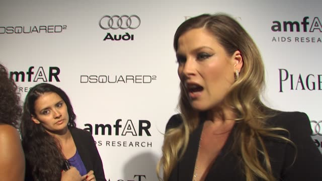 ali larter on who she's wearing being a part of the evening what she appreciates about the work that amfar does what she's most looking forward to at... - ali larter stock videos and b-roll footage