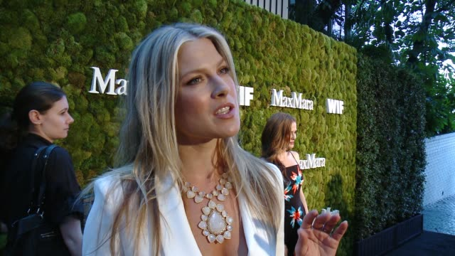 interview ali larter on why she loves max mara and tonight's event at max mara celebrates kate mara as the 2015 women in film max mara face of the... - ali larter stock videos and b-roll footage