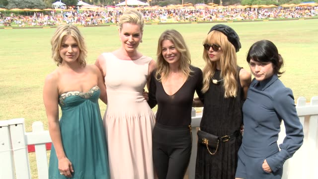 ali larter rebecca romij ellen pompeo selma blair and rachel zoe at the third annual veuve clicquot polo classic los angeles at will rogers state... - ali larter stock videos & royalty-free footage