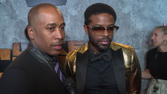 interview – ali shaheed mohammed and adrian younge on why it's important for us to watch a character like luke cage on screen right now and what they... - edison ballroom stock videos & royalty-free footage