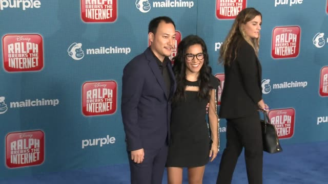 """ali wong at the """"ralph breaks the internet"""" world premiere at the el capitan theatre on november 05, 2018 in hollywood, california. - el capitan theatre stock videos & royalty-free footage"""