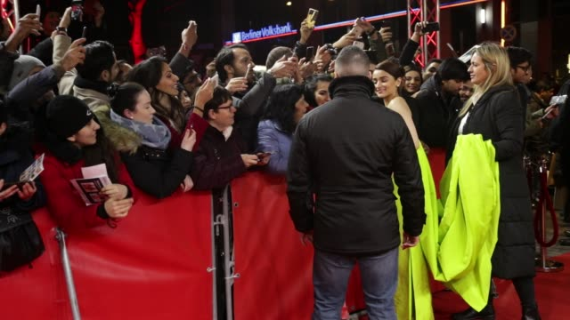 alia bhatt and ranveer singh at 'gully boy' premiere 69th berlin film festival - bollywood stock videos and b-roll footage