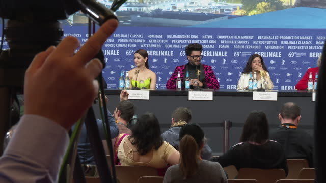 Alia Bhatt Ranveer Singh Zoya Akhtar Ritesh Sidhwani Dorothee Wenner at 'Gully Boy' Press Conference 69th Berlin Film Festival on February 09 2019 in...