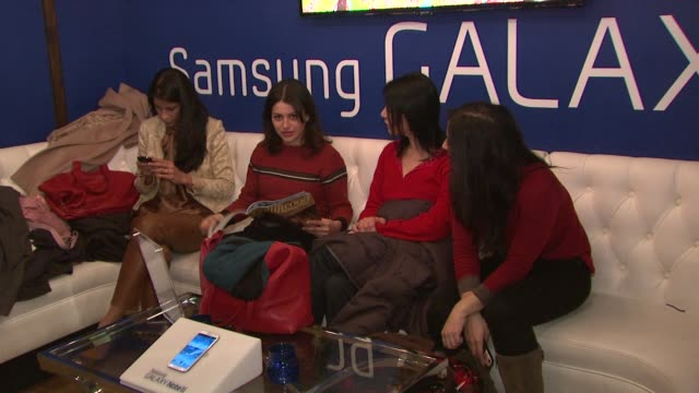 alia shawka at celebrities visit the samsung galaxy lounge day 1 on 1/18/13 in park city utah - 1日目点の映像素材/bロール