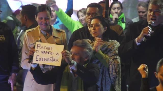 alianza pais relevo al presidente de ecuador lenin moreno de su cargo como lider del partido profundizando la crisis politica en el pais - politica stock videos & royalty-free footage