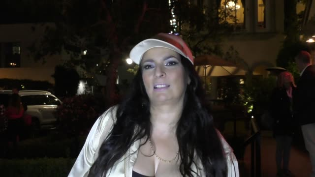 interview alice amter discusses her birthday party a big bang theory spinoff outside the grove in hollywood in celebrity sightings in los angeles - alice amter stock videos & royalty-free footage