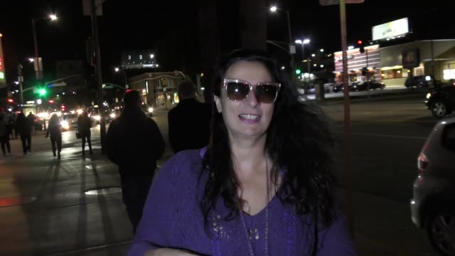 interview alice amter talks about her love life outside the arclight theatre in hollywood in celebrity sightings in los angeles - alice amter stock videos & royalty-free footage