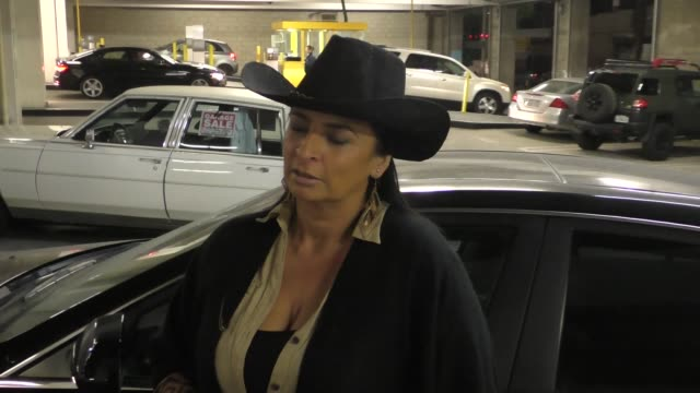 interview alice amter talks about her trip to texas as she leaves the arclight theatre in hollywood at celebrity sightings in los angeles on december... - alice amter stock videos & royalty-free footage