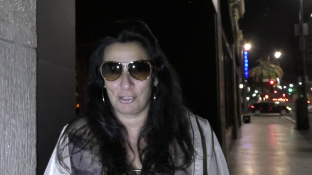 interview alice amter talks about the kim kardashian robbery while leaving katsuya restaurant in hollywood celebrity sightings on march 14 2017 in... - alice amter stock videos & royalty-free footage