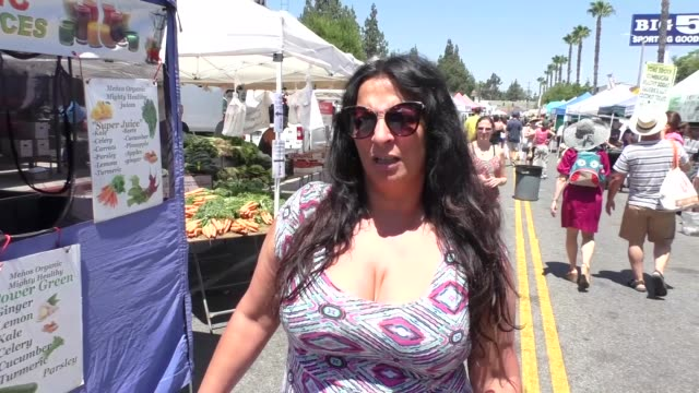 interview alice amter talks about what to do if a fight like safaree meek mill happens in front of her while shopping at the studio city farmers... - alice amter stock videos & royalty-free footage