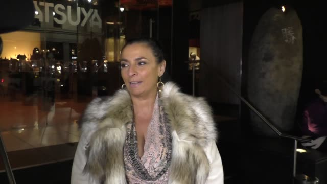 interview alice amter talks fashion outside katsuya restaurant in hollywood in celebrity sightings in los angeles - alice amter stock videos & royalty-free footage