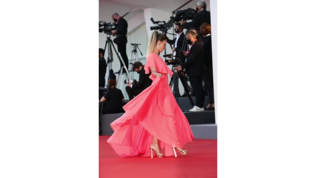 alice bellagamba walks the red carpet ahead of the movie the world to come at the 77th venice film festival on september 06 2020 in venice italy - gif stock videos & royalty-free footage