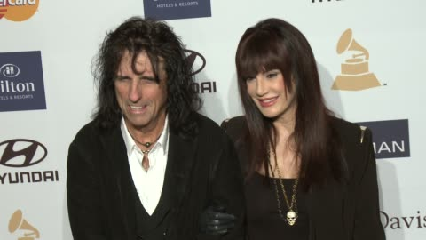 stockvideo's en b-roll-footage met alice cooper at pre-grammy gala & salute to industry icons with clive davis honoring antonio l.a. reid 2/9/2013 in beverly hills, ca. - alice cooper