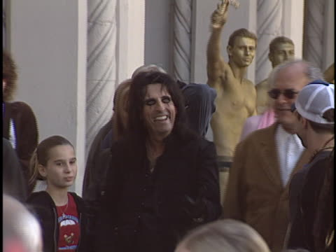 stockvideo's en b-roll-footage met alice cooper at the alice cooper walk of fame star at hollywood in hollywood, ca. - alice cooper