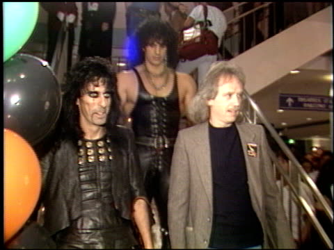 Alice Cooper at the Prince of Darkness Premiere at Universal Cineplex Odeon in Universal City California on October 1 1987