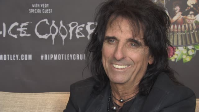 INTERIVEW Alice Cooper on judging on talent shows being to nice Simon Cowell change the show being family entertainment at Royal Garden on June 10...