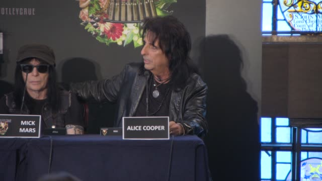 interview alice cooper on what audiences can expect from the final tour at motley crue european press conference on june 09 2015 in london england - vince neil stock videos and b-roll footage