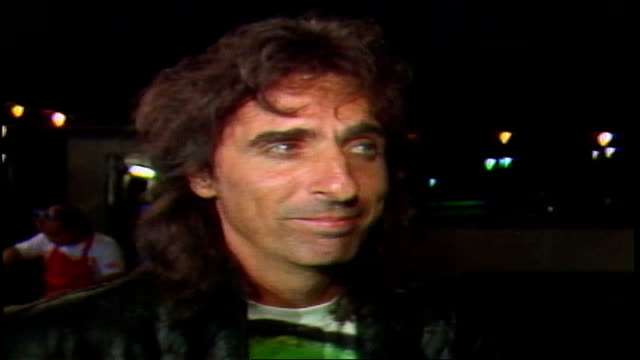 alice cooper says rambo better move over, pee wee is insane and crazy, that's way he likes him. - 1985 stock videos & royalty-free footage