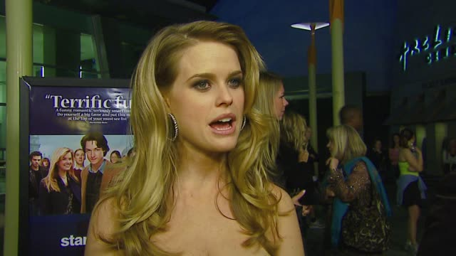 Alice Eve on the premiere why she wanted to be in this film Tom Hanks the appeal of the film at the 'Starter For 10' Los Angeles Premiere at Arclight...