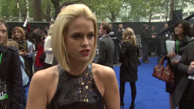 Alice Eve on working with Emma Thompson and funny moments with Will Smith on the set at Men in Black 3 Gala Premiere at Odeon Leicester Square on May...