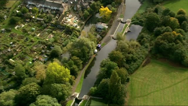 Body found in River Brent AIR VIEW of Police forensics tent erected on the bank of the River Brent where the body of Alice Gross was found ZOOM IN