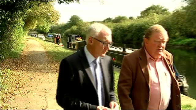 Body found in River Brent John O'Connor set up shot with reporter / interview SOT