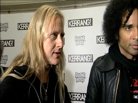 alice in chains on kerrang, meeting old friends and receiving icon status at the kerrang! awards at london england. - graph stock videos & royalty-free footage