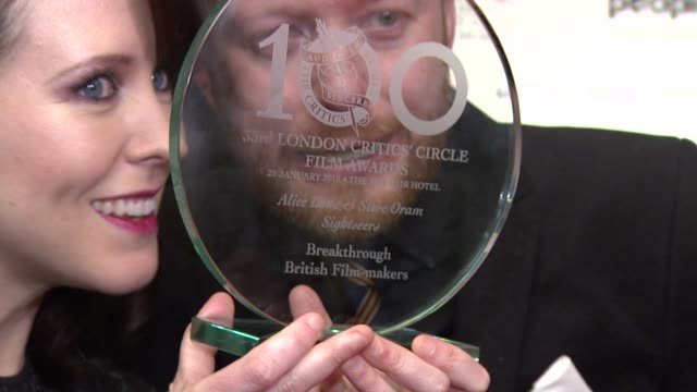 alice lowe & steve oram at the london critic circle awards at may fair hotel on january 20, 2013 in london, england - critic stock videos & royalty-free footage