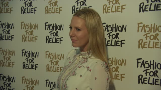 alice naylor-leyland at fashion for relief charity fashion show & interviews february 19, 2015 in london, england. - ファッションフォーリリーフ点の映像素材/bロール