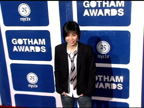 alice wu at the ifp's 15th annual gotham awards arrivals at pier 60 at chelsea piers in new york new york on november 30 2005 - chelsea piers stock videos & royalty-free footage
