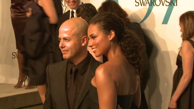 Alicia Keys and guest at the The 2007 CFDA Awards at New York Public Library in New York New York on June 4 2007