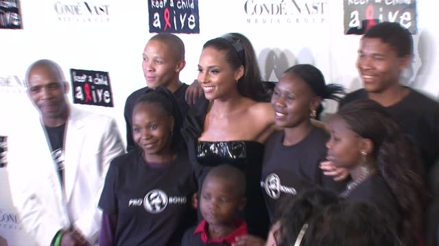 alicia keys and kids at the conde nast media group presents the 4th annual 'black ball' concert for 'keep a child alive' arrivals at the hammerstein... - conde nast media group stock videos & royalty-free footage