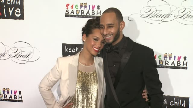 alicia keys and swizz beats at the keep a child alive's 8th annual black ball red carpet at new york ny - alicia keys stock videos and b-roll footage