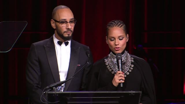 Alicia Keys and Swizz Beatz at 2014 Angel Ball benefitting Gabrielle's Angel Foundation for Cancer Research at Cipriani Wall Street on October 20...