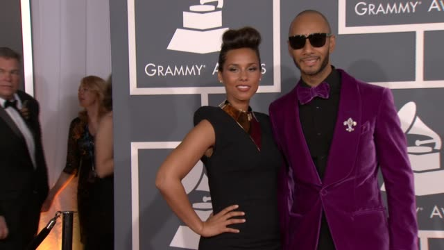 Alicia Keys and Swizz Beatz at 54th Annual GRAMMY Awards Arrivals on 2/12/12 in Los Angeles CA