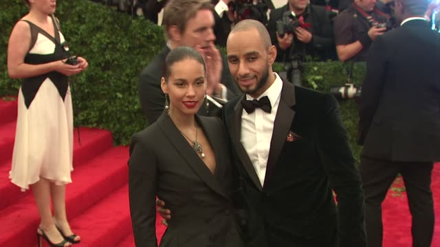 Alicia Keys and Swizz Beatz at 'Schiaparelli And Prada Impossible Conversations' Costume Institute Gala at Metropolitan Museum of Art on May 07 2012...