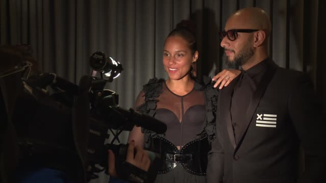 Alicia Keys and Swizz Beatz at The Brooklyn Artists Ball at Brooklyn Museum on April 03 2017 in New York City