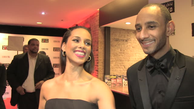 Alicia Keys and Swizz Beatz on the 10 year anniversary of her first album being a mother the charity at the Keep A Child Alive Black Ball at London...