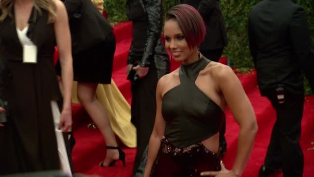 Alicia Keys at 'PUNK Chaos To Couture' Costume Institute Gala at Metropolitan Museum of Art on May 06 2013 in New York New York