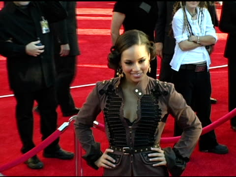 Alicia Keys at the 2004 American Music Awards Red Carpet at the Shrine Auditorium in Los Angeles California on November 14 2004