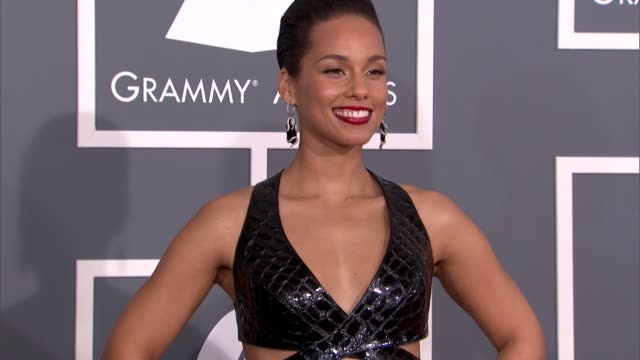 alicia keys at the 55th annual grammy awards arrivals 2/10/2013 in los angeles ca - alicia keys stock videos and b-roll footage