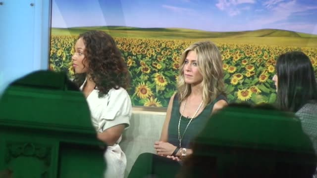 Alicia Keys Jennifer Aniston and Demi Moore get ready to shoot a segment for 'Good Morning America' in New York 09/26/11