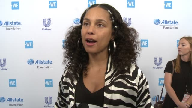 INTERVIEW Alicia Keys n how it feels to be celebrating WE Day why it's important for our youth to be involved in social good talks about the...