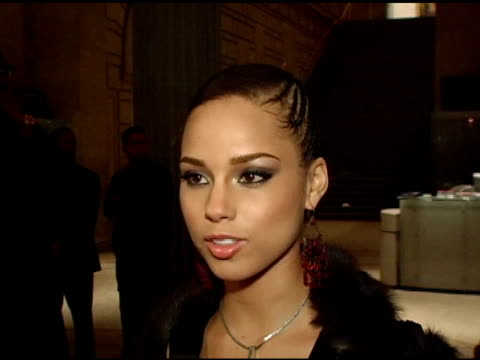 alicia keys on finding the right cavalli at the preview gala for the metropolitan museum's 'wild fashion untamed' hosted by roberto cavalli hosts... - alicia keys stock videos and b-roll footage